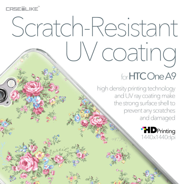 HTC One A9 case Floral Rose Classic 2262 with UV-Coating Scratch-Resistant Case | CASEiLIKE.com