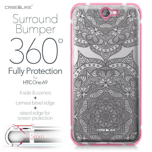 HTC One A9 case Mandala Art 2304 Bumper Case Protection | CASEiLIKE.com
