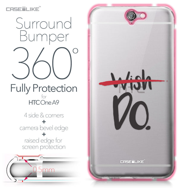 HTC One A9 case Quote 2407 Bumper Case Protection | CASEiLIKE.com