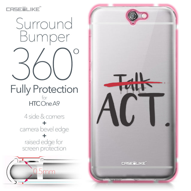 HTC One A9 case Quote 2408 Bumper Case Protection | CASEiLIKE.com
