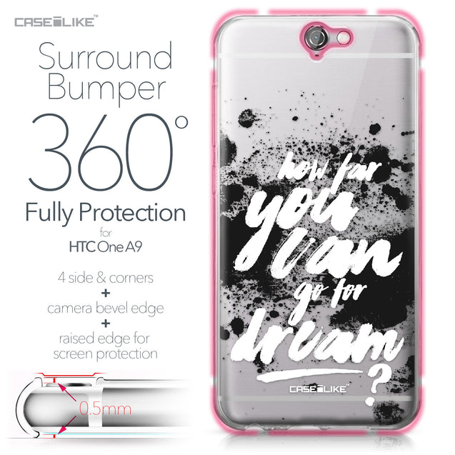 HTC One A9 case Quote 2413 Bumper Case Protection | CASEiLIKE.com
