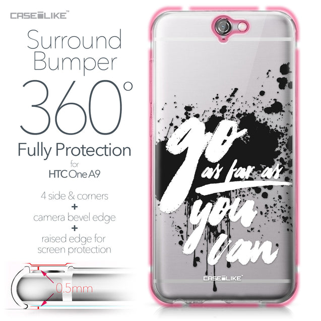 HTC One A9 case Quote 2415 Bumper Case Protection | CASEiLIKE.com