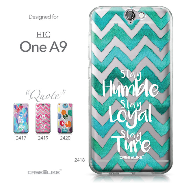 HTC One A9 case Quote 2418 Collection | CASEiLIKE.com