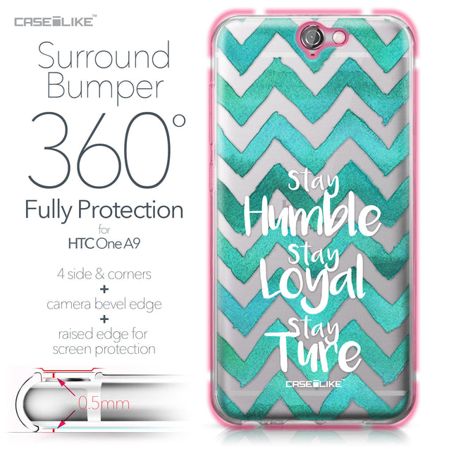 HTC One A9 case Quote 2418 Bumper Case Protection | CASEiLIKE.com