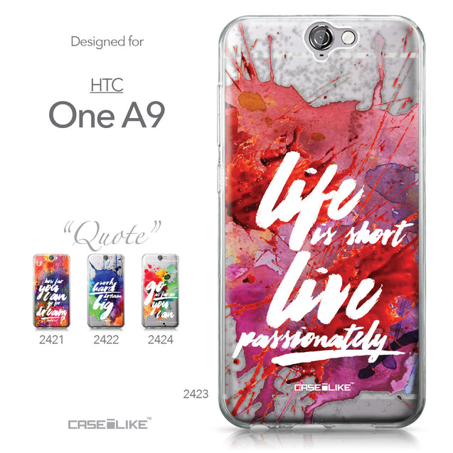 HTC One A9 case Quote 2423 Collection | CASEiLIKE.com