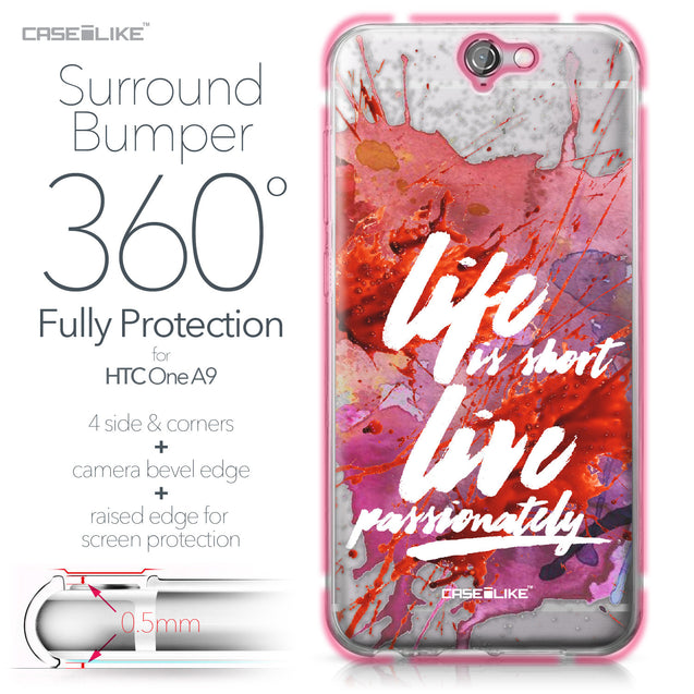 HTC One A9 case Quote 2423 Bumper Case Protection | CASEiLIKE.com