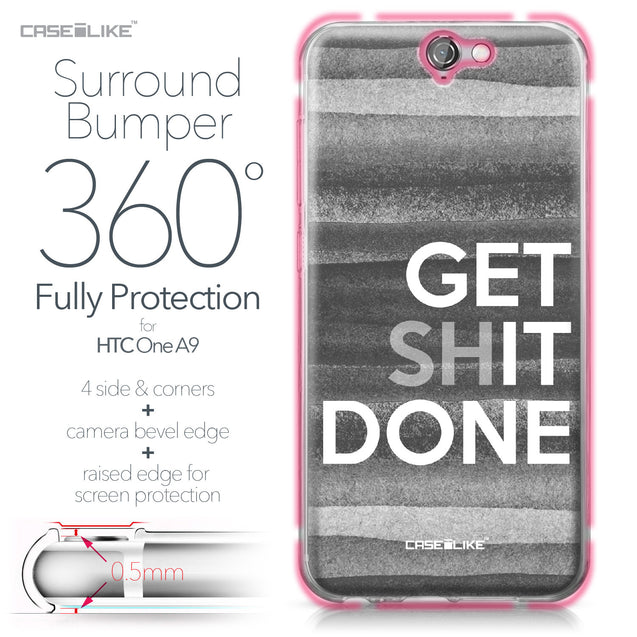 HTC One A9 case Quote 2429 Bumper Case Protection | CASEiLIKE.com