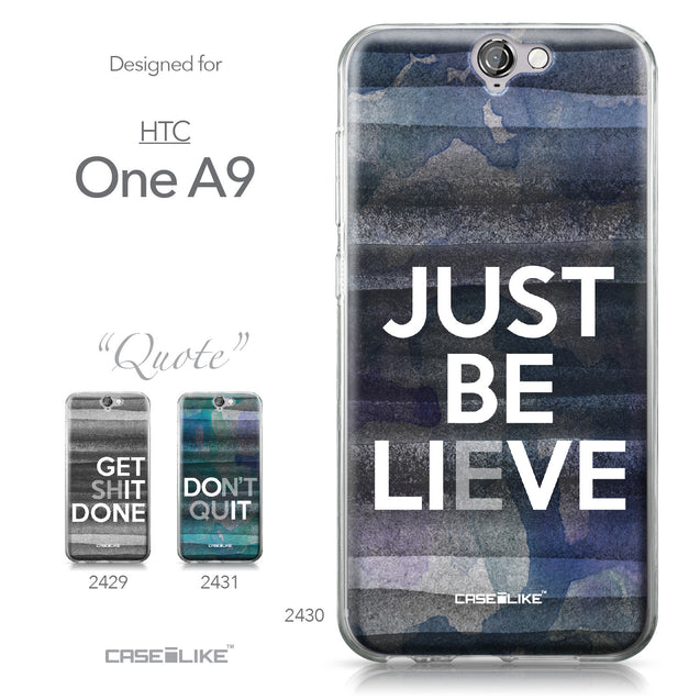 HTC One A9 case Quote 2430 Collection | CASEiLIKE.com