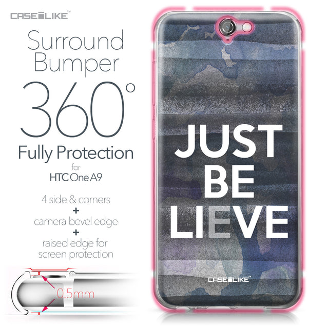 HTC One A9 case Quote 2430 Bumper Case Protection | CASEiLIKE.com