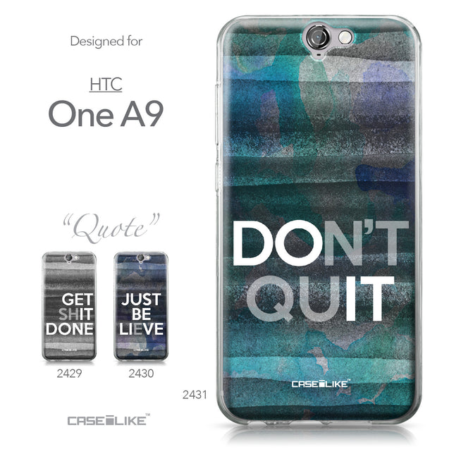 HTC One A9 case Quote 2431 Collection | CASEiLIKE.com