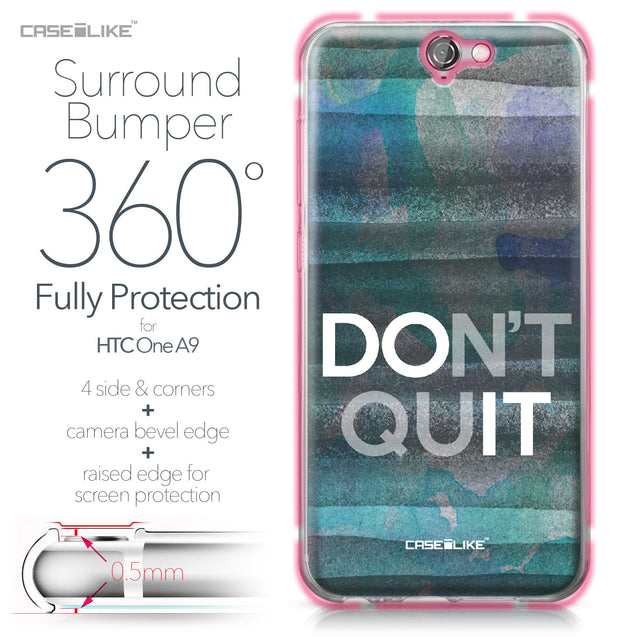 HTC One A9 case Quote 2431 Bumper Case Protection | CASEiLIKE.com