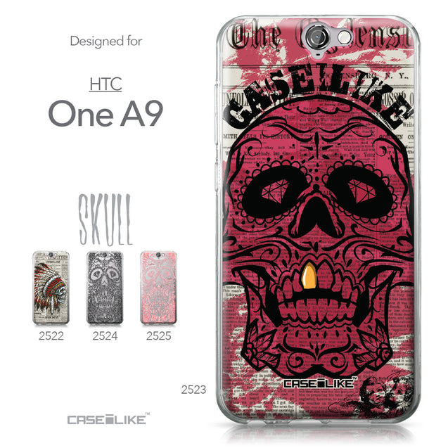 HTC One A9 case Art of Skull 2523 Collection | CASEiLIKE.com