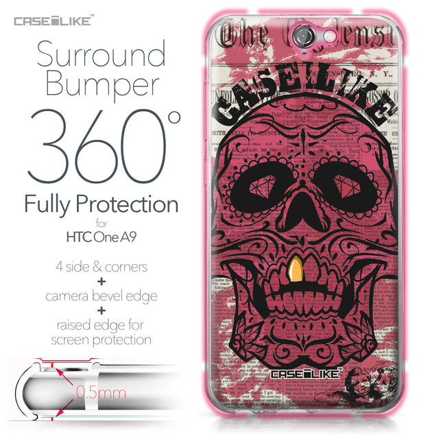 HTC One A9 case Art of Skull 2523 Bumper Case Protection | CASEiLIKE.com