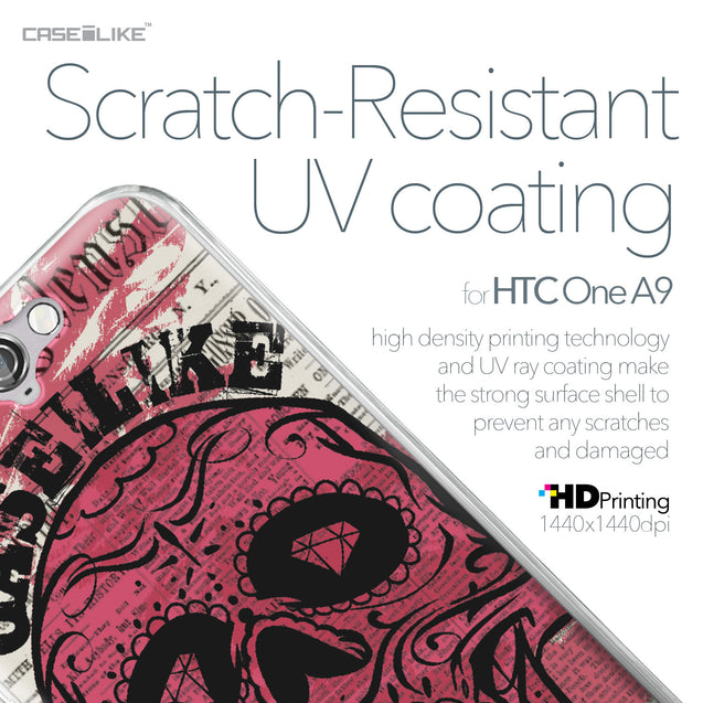 HTC One A9 case Art of Skull 2523 with UV-Coating Scratch-Resistant Case | CASEiLIKE.com