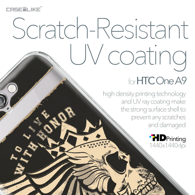 HTC One A9 case Art of Skull 2529 with UV-Coating Scratch-Resistant Case | CASEiLIKE.com