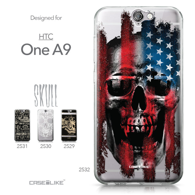 HTC One A9 case Art of Skull 2532 Collection | CASEiLIKE.com