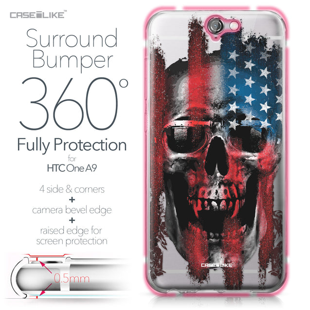 HTC One A9 case Art of Skull 2532 Bumper Case Protection | CASEiLIKE.com