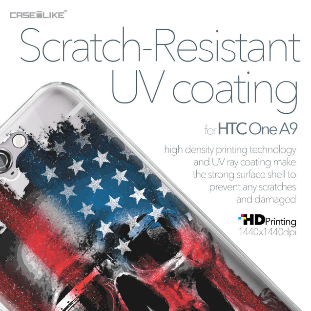 HTC One A9 case Art of Skull 2532 with UV-Coating Scratch-Resistant Case | CASEiLIKE.com