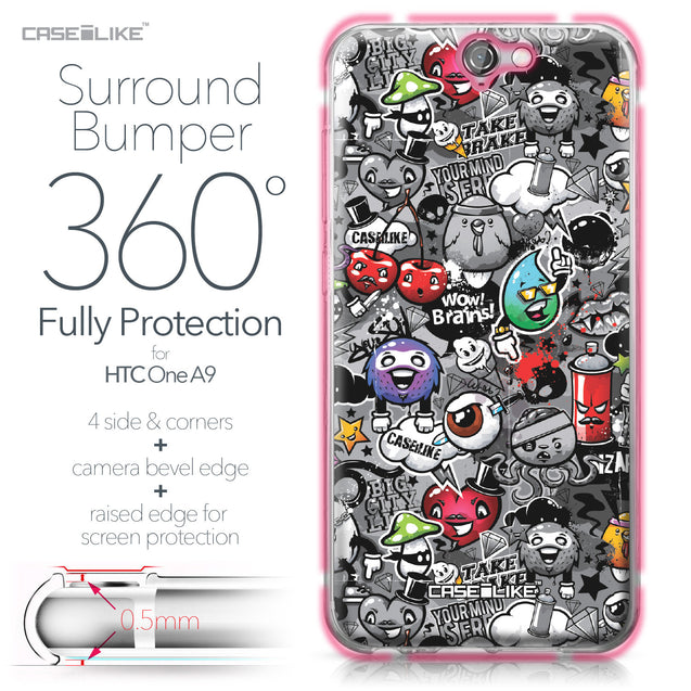 HTC One A9 case Graffiti 2709 Bumper Case Protection | CASEiLIKE.com