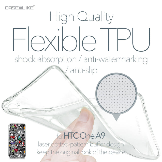 HTC One A9 case Graffiti 2709 Soft Gel Silicone Case | CASEiLIKE.com
