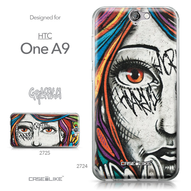HTC One A9 case Graffiti Girl 2724 Collection | CASEiLIKE.com