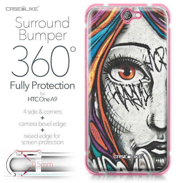 HTC One A9 case Graffiti Girl 2724 Bumper Case Protection | CASEiLIKE.com