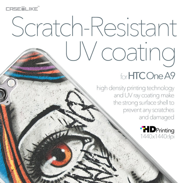 HTC One A9 case Graffiti Girl 2724 with UV-Coating Scratch-Resistant Case | CASEiLIKE.com