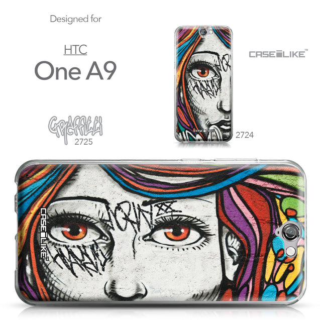 HTC One A9 case Graffiti Girl 2725 Collection | CASEiLIKE.com