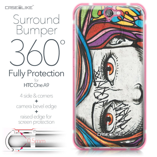 HTC One A9 case Graffiti Girl 2725 Bumper Case Protection | CASEiLIKE.com