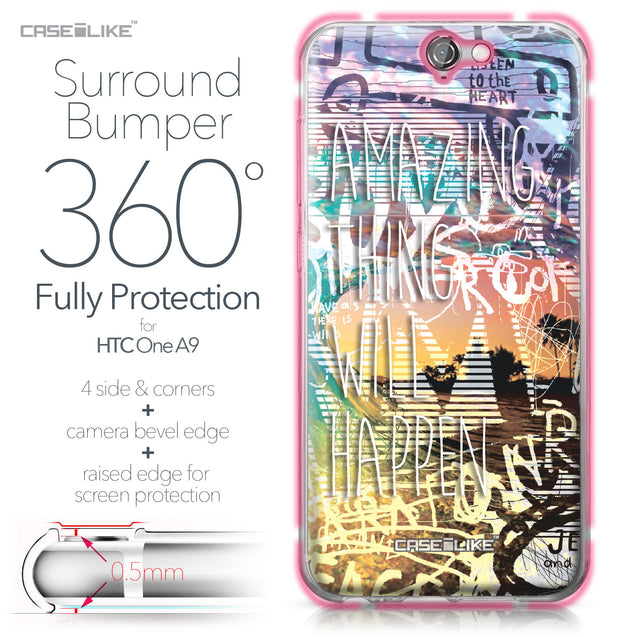 HTC One A9 case Graffiti 2729 Bumper Case Protection | CASEiLIKE.com