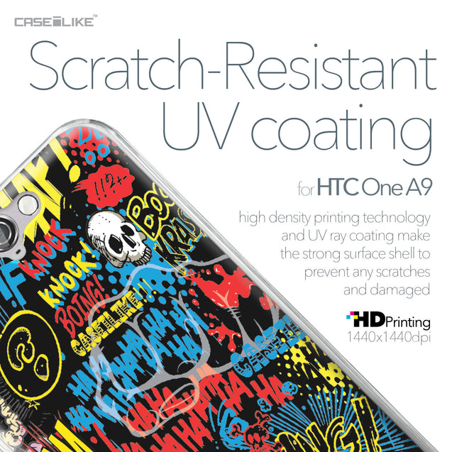 HTC One A9 case Comic Captions Black 2915 with UV-Coating Scratch-Resistant Case | CASEiLIKE.com