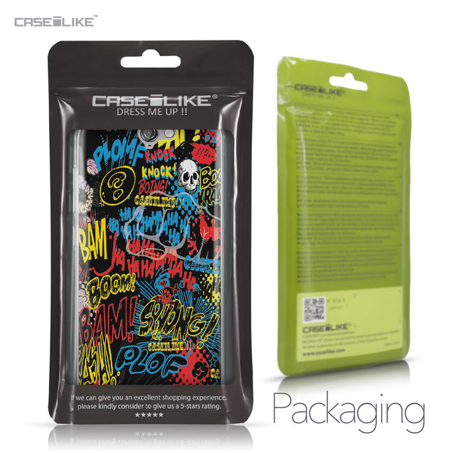 HTC One A9 case Comic Captions Black 2915 Retail Packaging | CASEiLIKE.com
