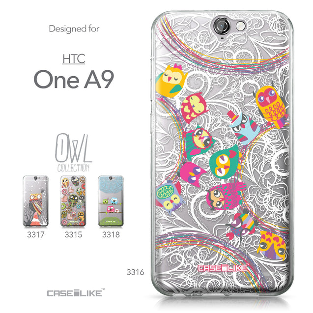 HTC One A9 case Owl Graphic Design 3316 Collection | CASEiLIKE.com
