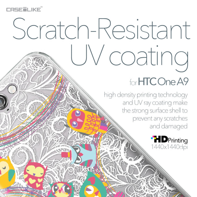 HTC One A9 case Owl Graphic Design 3316 with UV-Coating Scratch-Resistant Case | CASEiLIKE.com
