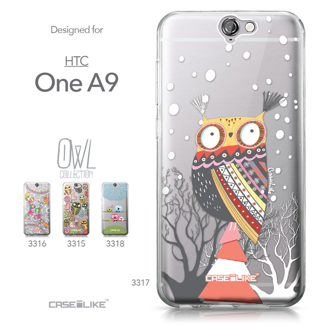 HTC One A9 case Owl Graphic Design 3317 Collection | CASEiLIKE.com