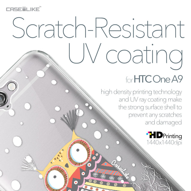 HTC One A9 case Owl Graphic Design 3317 with UV-Coating Scratch-Resistant Case | CASEiLIKE.com