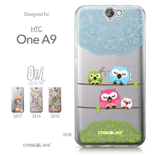 HTC One A9 case Owl Graphic Design 3318 Collection | CASEiLIKE.com