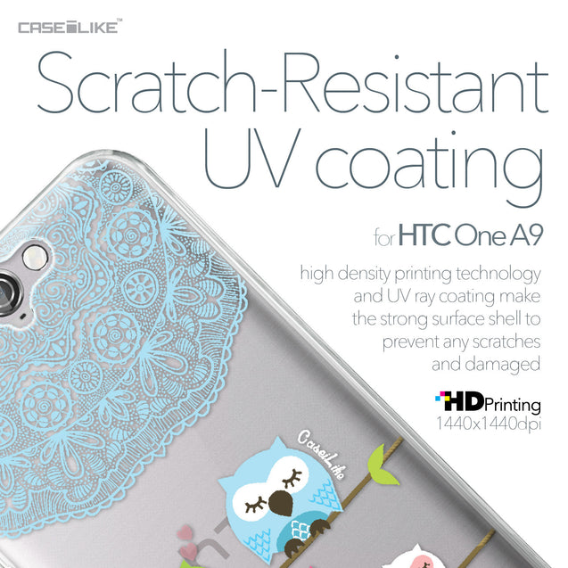 HTC One A9 case Owl Graphic Design 3318 with UV-Coating Scratch-Resistant Case | CASEiLIKE.com