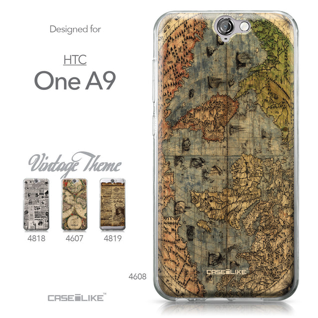 HTC One A9 case World Map Vintage 4608 Collection | CASEiLIKE.com