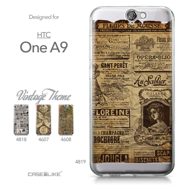 HTC One A9 case Vintage Newspaper Advertising 4819 Collection | CASEiLIKE.com