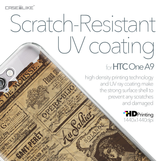 HTC One A9 case Vintage Newspaper Advertising 4819 with UV-Coating Scratch-Resistant Case | CASEiLIKE.com