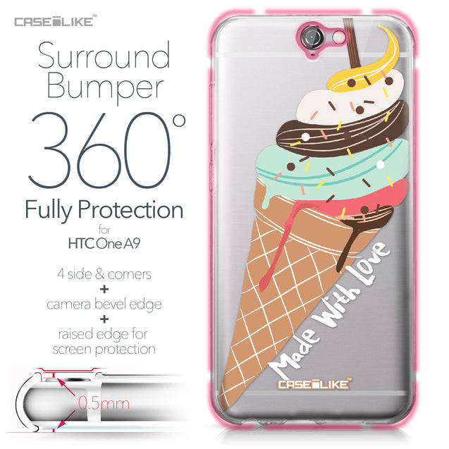 HTC One A9 case Ice Cream 4820 Bumper Case Protection | CASEiLIKE.com