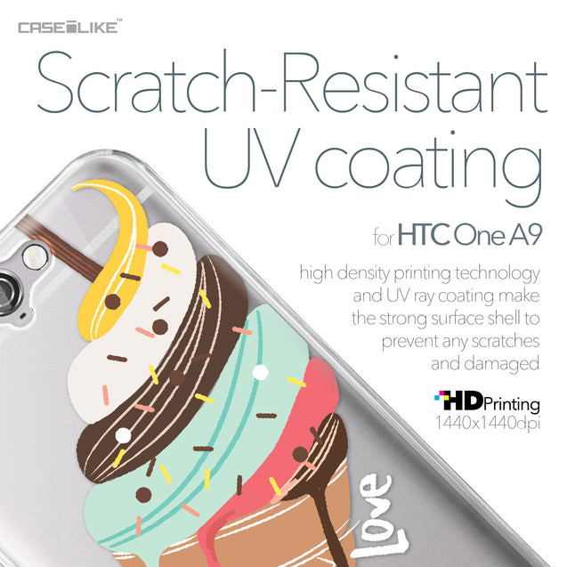 HTC One A9 case Ice Cream 4820 with UV-Coating Scratch-Resistant Case | CASEiLIKE.com