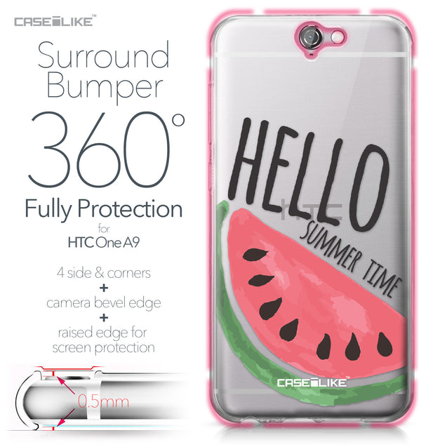 HTC One A9 case Water Melon 4821 Bumper Case Protection | CASEiLIKE.com