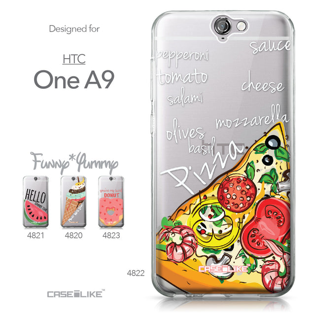 HTC One A9 case Pizza 4822 Collection | CASEiLIKE.com