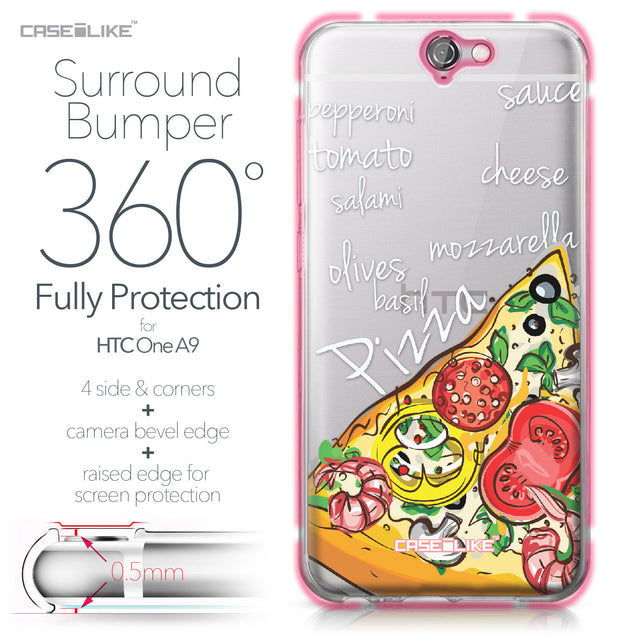 HTC One A9 case Pizza 4822 Bumper Case Protection | CASEiLIKE.com