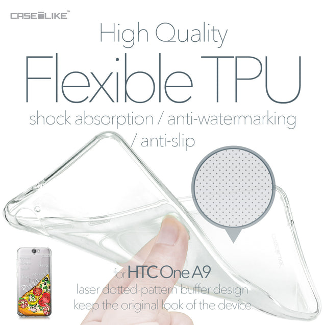 HTC One A9 case Pizza 4822 Soft Gel Silicone Case | CASEiLIKE.com