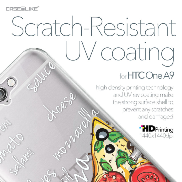 HTC One A9 case Pizza 4822 with UV-Coating Scratch-Resistant Case | CASEiLIKE.com