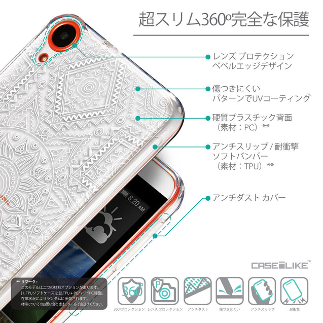 Details in Japanese - CASEiLIKE HTC Desire 820 back cover Indian Line Art 2061