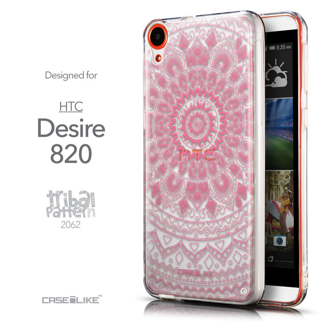 Front & Side View - CASEiLIKE HTC Desire 820 back cover Indian Line Art 2062